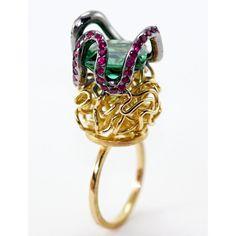 """El Rey de los Tejados"" by Juan Martin #indeslab  - CURVES! 25 Year Anniversary, Anniversary Rings, Rey, Heart Ring, Clever, Objects, Bling, Gemstones, Modern"