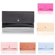 Women Fashion PU Leather Wallet Case Purse Card Holder Phone Bag for under 6 inches Smartphone