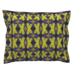 Sebright Pillow Sham with Flanged Detail featuring Popfintail by joancaronil | Roostery Home Decor