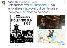 Tweet Ralph de Vries, gedeputeerde Cultuur