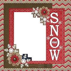 Snow Scrapbooking Page 3