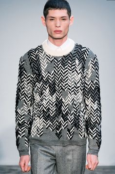 Pringle herringbone embroidery knitwear aw12