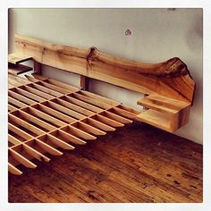 Live edge bed headboard (matching footboard out of shot.) Live edge bed headboard (matching footboard out of shot.