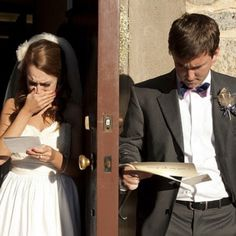 Write letters to each other and read right before wedding. so cute!!