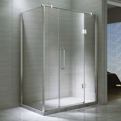 Desire Ten Double Inline Hinged Shower Door with Side Panel, 1600mm x 800mm, Semi-Frameless, 10mm Glass - DESC6381680