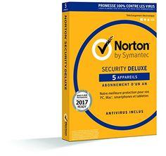 Norton Security 2017 Deluxe (5 appareils / 1 an): logiciel antivirus Une protection complète conçue pour protéger vos appareils préférés…