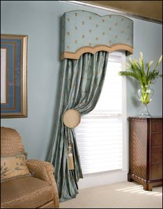 After determining what your window treatment will do, consider the theme or style of the room…casual, contemporary, traditional, or trendy. Curtain Styles, Curtain Designs, Curtains And Draperies, Valances, Burlap Curtains, Blinds For Windows, Bay Windows, Window Blinds, Window Seats