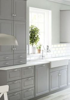 Kitchen ikea bodbyn sinks 66 New ideas White Kitchen Cabinets Bodbyn Ideas IKEA Kitchen Sinks Kitchen Ikea, Grey Kitchen Cabinets, Kitchen Cabinet Design, Kitchen Redo, New Kitchen, Awesome Kitchen, White Cabinets, Kitchen Backsplash, Upper Cabinets