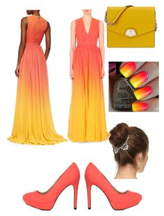 """""""Untitled #469"""" by luisadaniela ❤ liked on Polyvore featuring Elie Saab, Charlotte Russe, Nine West and Lelet NY"""