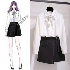 Here Are Some Amazing korean fashion outfits 9833 Kawaii Fashion, Cute Fashion, Asian Fashion, Look Fashion, Trendy Fashion, Girl Fashion, Fashion Dresses, Fashion Clothes, Womens Fashion