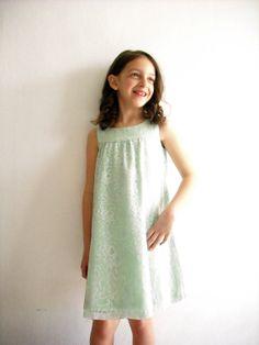 Mint Flower Girl Dress/ Girl Summer Dress/ by ANKOdesign on Etsy, $64.00