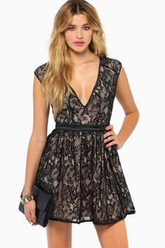 The Lace Is On Skater Dress #TOBI