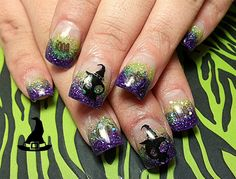 Witchy Skulls by dcgroves - Nail Art Gallery nailartgallery.nailsmag.com by Nails Magazine www.nailsmag.com #nailart