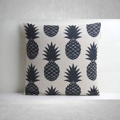 This listing is for one handprinted and handmade 18x18 inches pillow cover.    Its heavy linen cotton blended fabric, thicker than regular, soft to