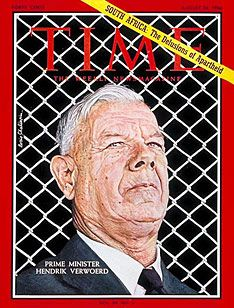 """Hendrik Frensch Verwoerd - Hendrik Verwoerd September 1901 – 6 September was Prime Minister of South Africa from 1958 until his assassination in He was often called the """"Architect of Apartheid"""". West Africa, South Africa, My Herritage, Time Magazine, Magazine Covers, United Nations General Assembly, Apartheid, The Great White, August 26"""