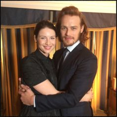 Just caught up with the stunning @caitrionambalfe & handsome @SamHeughan about #Outlander at #TCA15 from Access Hollywood twitter