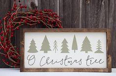 O Christmas Tree Sign, Christmas tree wood sign, Christmas wood sign, Farmhouse Sign, Painted wood s Christmas Signs Wood, Holiday Signs, Black Christmas, Merry Little Christmas, Christmas Crafts, Christmas Decorations, Christmas Tree, Holiday Decor, Seasonal Decor