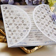 Snowflake winter wedding invite laser cut