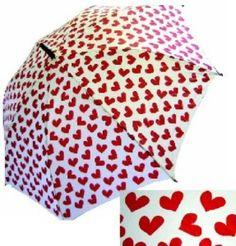 Punk Rock Retro HEARTS umbrella...
