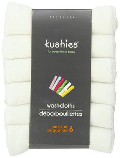 Kushies Baby Washcloths - White Washcloths for Face & Body - Ultra Soft Baby Washcloths/Towels - Newborn Baby Wash Cloth - Mini Baby Towel New Baby Shopping List, Baby Washcloth, Baby Towel, Everything Baby, 6 Packs, Washing Clothes, Face And Body, Baby Food Recipes, New Baby Products