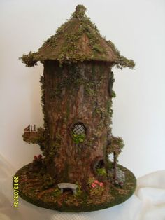 Unique OOAK quarter scale tree house 'Oak Hollow' | eBay