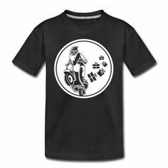 Teenager Premium T-Shirt - Auf die Details kommt es an: Das klassisch geschnittene T-Shirt setzt mit stilvoller Ausschnittlösung in V-Form dezent Akzente. MOTORRAD BILD, WEIHNACHTSMANN AUF EINEM MOTORRAD.