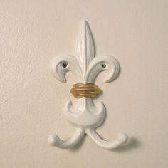 fleur de lis wall hook. $16.00, via Etsy.