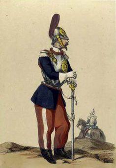 Regno di Spagna -Coracero. Regimiento del Rey. 1860