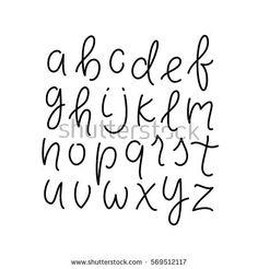 Simple line alphabet. Thin line lowercase typeface / font. Cursive lettering abc. Vector illustration.