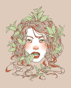 Peppermint Girl by GardenLane on Redbubble.