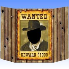 Wild West Wanted Poster Photo Prop Scene decoration