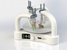 Three arm 3D food printer.
