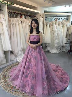 『大人かわいい濃いめのピンクドレス☆福岡サロンご試着の紹介☆』