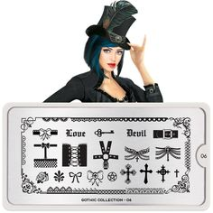 MoYou-London Stamping Nail Art Image Plate Gothic 06