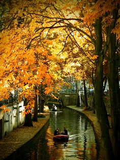 Autumn scene in Utrecht, The Netherlands