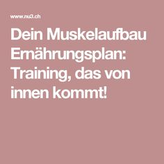 Dein Muskelaufbau Ernährungsplan: Training, das von innen kommt!