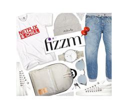 """""""Casual Look"""" by monmondefou ❤ liked on Polyvore featuring Post-It, Givenchy, men's fashion and menswear"""
