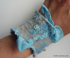 Blue Nuno Felt by ACraftyHistorian, via Flickr