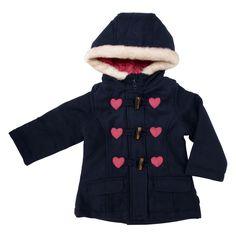 OshKosh B'gosh Infant Girl Heart Toggle Coat #VonMaur