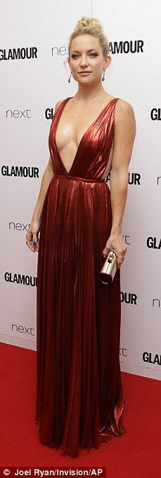Blonde brigade: Kate Hudson, Suki Waterhouse, Rosie Huntington-Whiteley and Ellie Goulding (left to right) all wowed in daring dress choices as they hit the 2015 Glamour Women of the Year Awards at London's Berkeley Square Gardens on Tuesday night