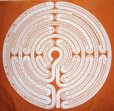 Bobbin Lace Labyrinth. Maze. After some digging I found the original lace maker. The maze was designed by Michele Minguin-Debray.  I received the pattern by sending an email to the author at the following address:  mimd@wanadoo.fr: