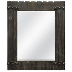 Barnwood Mirror with Metal Hardware - traditional - mirrors Barn Wood Frames, Rustic Frames, Traditional Mirrors, Rustic Mirrors, Weathered Wood, Wood Construction, Home Accessories, Picture Frames, Home And Garden