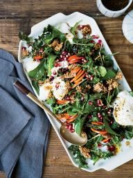 Persimmon-and-Burrata Salad with Sesame Candy | KitchenDaily.com