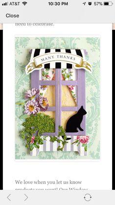 Window Ledge, Anna Griffin Cards, Window Cards, Heartfelt Creations, Halloween 2019, Card Kit, Scrapbooking Layouts, Card Ideas, Windows
