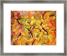 Autumn Grapes Symphony Framed Print by Sabina Von Arx Vegetable Painting, Framed Prints, Art Prints, Hanging Wire, Painting Techniques, Watercolor Paintings, Autumn, Fruit, Art Impressions