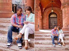 Urban Yale Campus Engagement Photo Shoot Sassy Mouth
