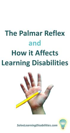 Retained Palmar Reflex or Grasp Reflex - Solve Learning Disabilities Primitive Reflexes, Kids Sites, Occupational Therapy Assistant, Handwriting Activities, Special Needs Mom, Dyscalculia, Kids Homework, Vision Therapy, Autism Parenting