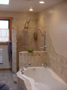 Open shower...no glass