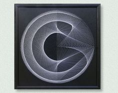 Wanddekor 3D-moderne abstrakte String Art Technik von FeniksArtDeco