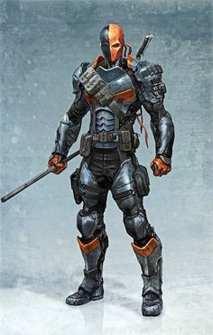 Batman Arkham Origins Deathstroke character concept art by Massive Black… Deathstroke Cosplay, Dc Deathstroke, Deathstroke The Terminator, Marvel Dc Comics, Comics Anime, Batman Arkham Origins, Comic Book Characters, Comic Character, Comic Books Art